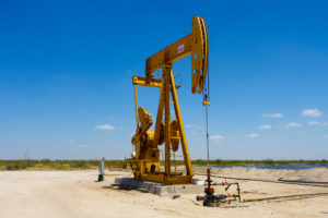 oil pumpjack in West Texas